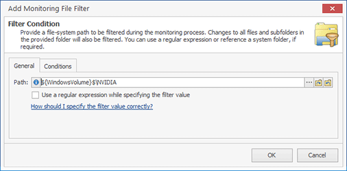 Configuring a Monitoring File Filter