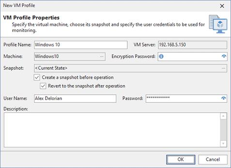 VM profile configuration
