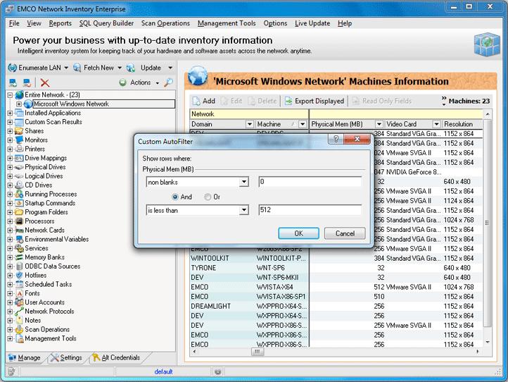 Custom AutoFilter dialog