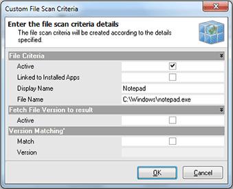 Adding the custom file scan criteria