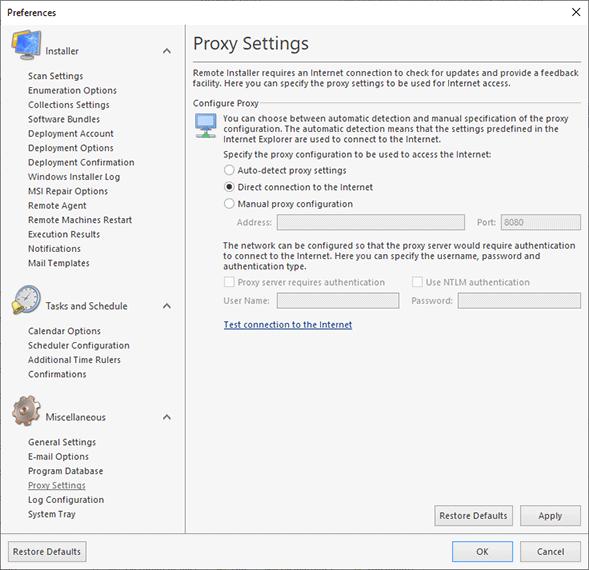 how to break the proxy settings