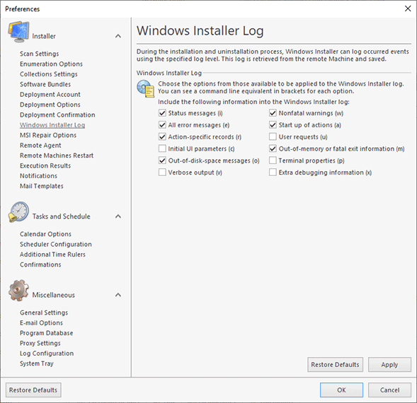 Configuring Windows Installer Log
