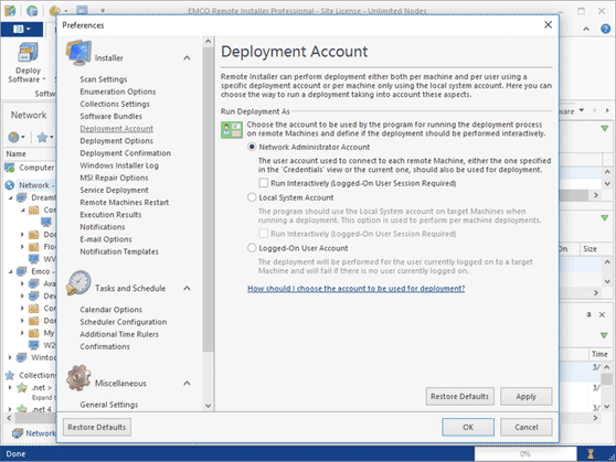 Deployment accounts