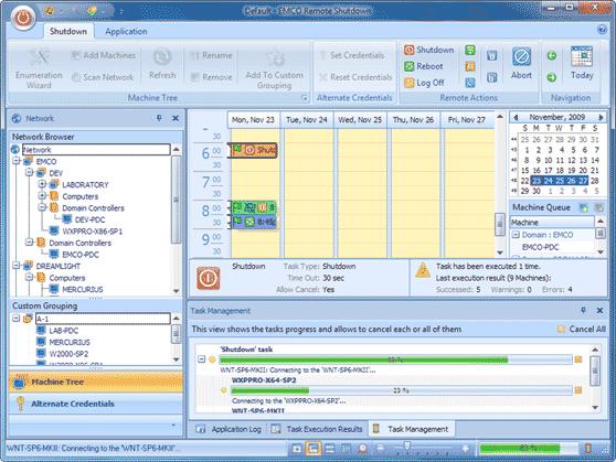 Flexible running task management